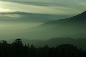 Fog rolling in at sunset by Pendragon006