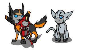 Furry Trio by TaintedTamer