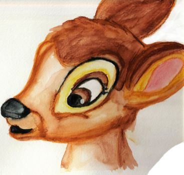 Bambi Watercolor by seesefire