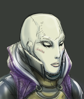 Tali without her mask by aiSAKU