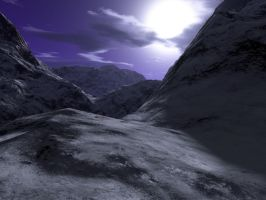Alps At Night by EasyNow-3D