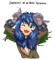 Derpkitty as a anime human(oid) by kagesatsuki