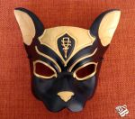 Egyptian Bastet Leather Cat Mask by b3designsllc
