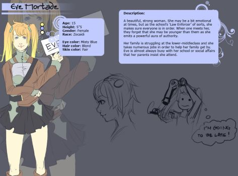Character Sheet: Eve by owdof