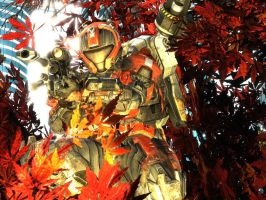 halo reach: red lotus by purpledragon104