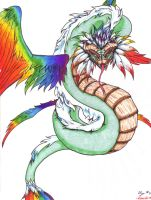 Couatl - The feathered Serpent by BUtifulDeath