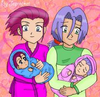 Jessie, James and their twins by Jezrocket