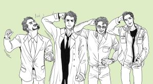 Science Bros and Casdean by ttx6666