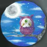The Weird Owl In The Night by rockgothicgirl