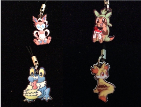 Kalos phone charms (for sale) by Wolferahm
