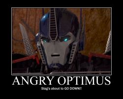 VERY angry Optimus! by menslady125