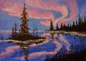 ACEO Mountain Lake #4 by annieoakley64