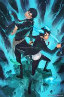 Ao no Exorcist by Qinni