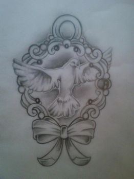 Dove tattoo design by Malitia-tattoo89