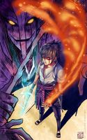 Sasuke with Susanoo by ComplexWish