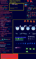 Blade the hedgehog sprite sheet (2nd update) by TheRedThunder360