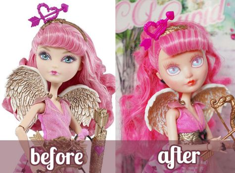 Ever After High C.A. Cupid Repaint Video Tutorial by ShadowedPorcelain