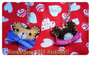 .:Cookie Bears BFF Necklaces:. by Angeru-chan