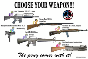 Choose your weapon! by FirstAwesomePlatoon