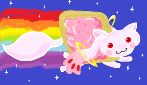 Nyan Kyubey by Kanka-the-raizard