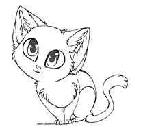 Free Kitty Lineart by Lisannexx
