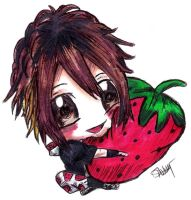 Yuji with an Ichigo Pillow by elrickousuke54