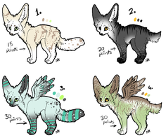 Fennec Adoptables 2: Closed by MissyAdopts