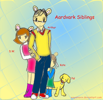 7-Future Aardvark Siblings by xxyuniexx