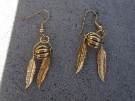 Very Golden Snitch Earrings (Movie Edition) by WhisperingWindxx