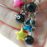 Soot Sprite and star candy charm bracelet by TrenoNights