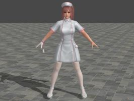 DOA5 LR Honoka Nurse costume by zareef