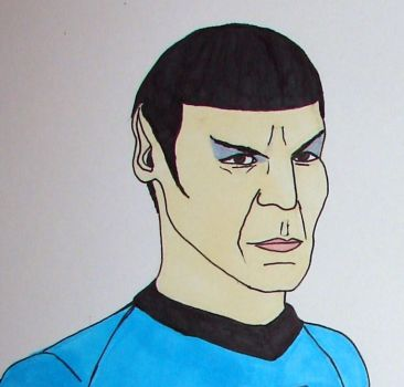 Mr. Spock by luella-golightly