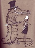 Flapper and Croc by creepstown