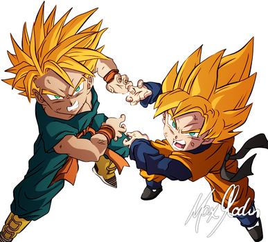 Trunks and Goten by Z-axer
