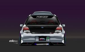 Subaru Impreza Wagon Vector , Edcgraphics by edcgraphic