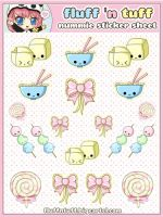Nummie Sticker Sheet by Fluffntuff