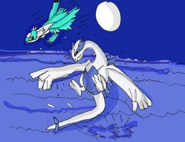 Lugia for bored out of my head by Absolhunter251