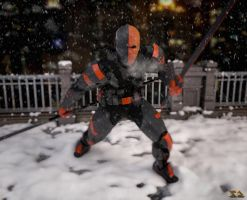 Deathstroke Akham Style with Snow by zosco