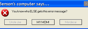 Benson's Error Message by Charleston-and-Itchy