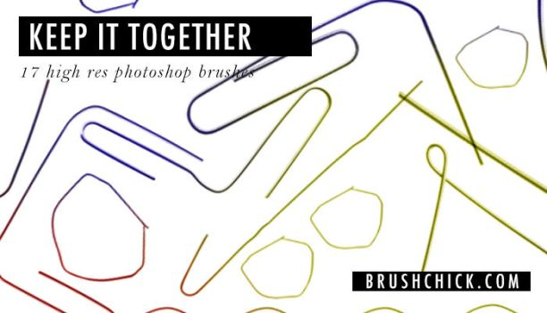 Free Photoshop Brushes no. 23, Keep it together by brushchick