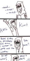 Kurt's a jerk by artisticApparition