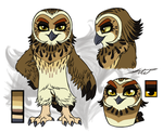 ANGRY BIRDS Athena REF SHEET by KasaraWolf