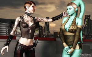 New arrival on Nar Shaddaa by Dendory