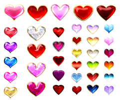 Heart gems (free stock) by Rittik-Designs
