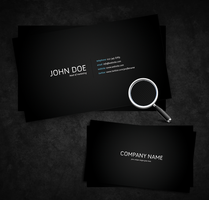 Simple Dark PSD Business Card by FreePSDownload