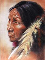 Native red indian by DIXIEDEAN
