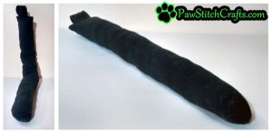Black Fleece Cat Tail by CalicoSarah