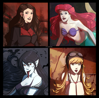 Favorite Hairstyles by Marina-Shads