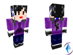 Me in Minecraft version by CrystalViolet500