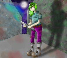 City of Monsters: The Green Warrior by Zanika99